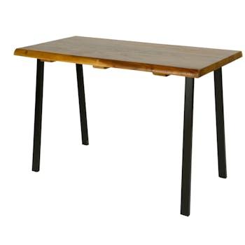 Table haute bois de suar métal 140 cm HAWAI