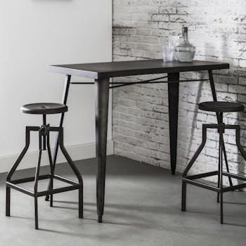 Table haute cuisine métal RALF
