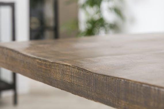 Table pied central bois de manguier 230 cm LUCKNOW