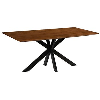 Table pied central bois recyclé teck 180 cm BARBADE