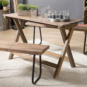 Table pliante en bois de style campagne