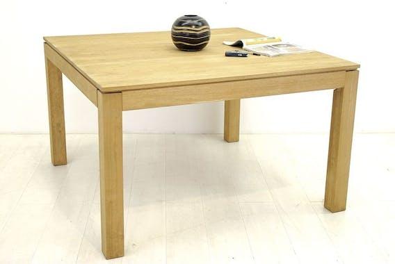 Table repas carrée hévéa 125cm HELENA