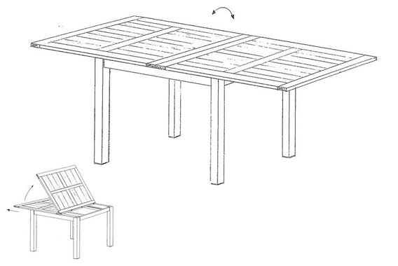 TABLE REPAS EXTENSIBLE 100/200CM ATTAN