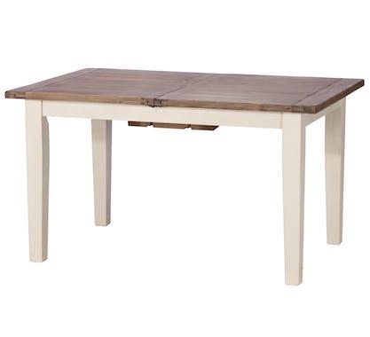 Table a manger rectangulaire extensible bois recycle FSC blanc