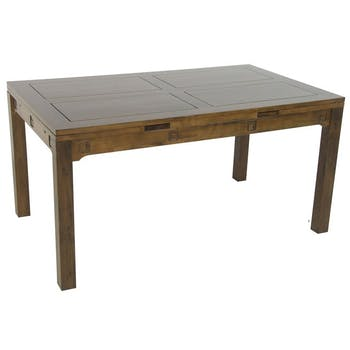 Table repas extensible hévéa 150/230cm TESSA