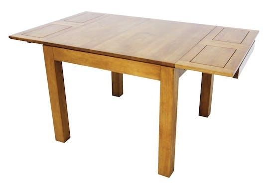 Table repas extensible hévéa 90/154cm HELENA