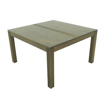 Table repas hévéa 130x130cm GALA