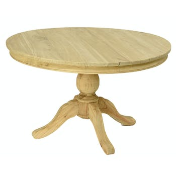 Table ronde bois naturel de mindi