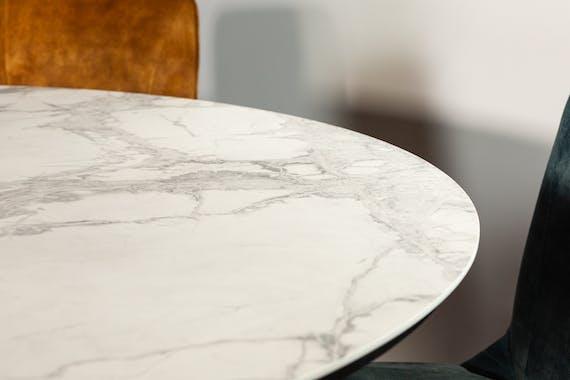Table ronde en céramique blanche 160 cm FLORENCE