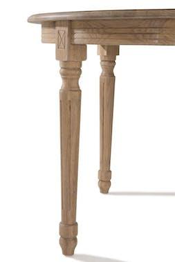 Table de repas ronde extensible en bois de style classique