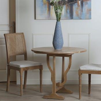 Table ronde pliante en bois de style classique