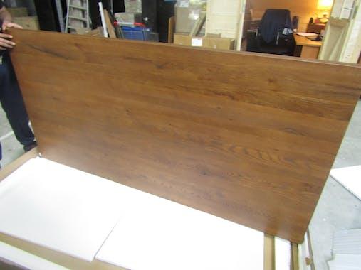 Table salle à manger bois métal pied croisé 200 cm OKA