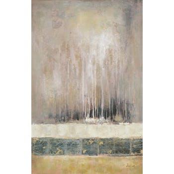 Tableau Abstrait 90x140. Peinture acrylique et feuilles métal