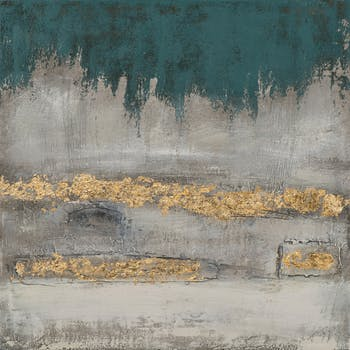 Tableau ABSTRAIT dominantes beiges et dorées 70x70cm