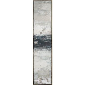 Tableau abstrait gris, noir, blanc vertical