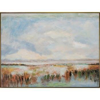 Tableau bord de mer rivage style impressionniste