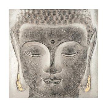 Tableau Bouddha et lotus 58x58cm