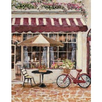 Tableau de rue et petit restaurant