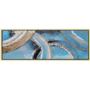 Tableau décoratif arcs bleu et or