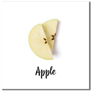 Tableau design quartiers de pommes aluminium