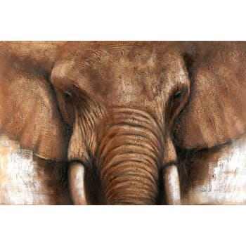 Tableau Eléphant 100x150. Peinture acrylique