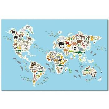 Tableau enfant atlas animaux du monde