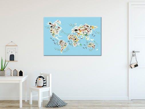 Tableau enfant atlas animaux du monde plexiglas