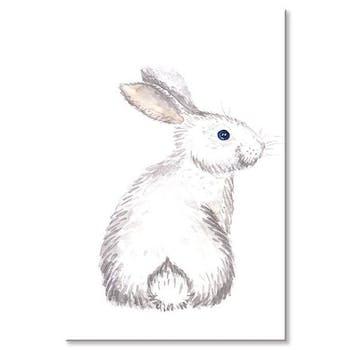 Tableau enfant lapin blanc