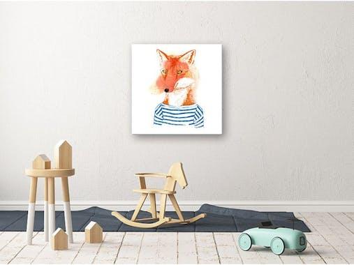 Tableau enfant petit renard plexiglas