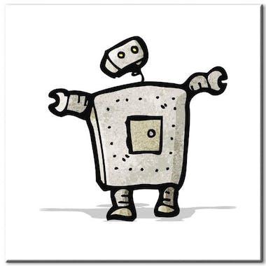 Tableau enfant robot plexiglas
