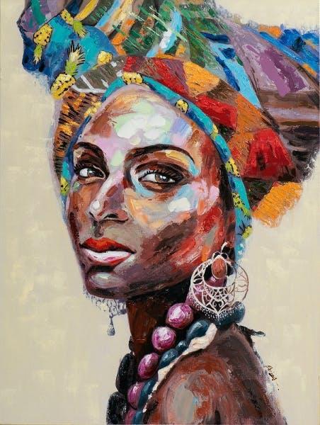 recherche tableau femme africaine)