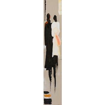 Tableau FEMMES tons noirs et blancs 25x150cm