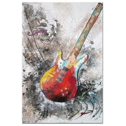Tableau musique guitare basse rock