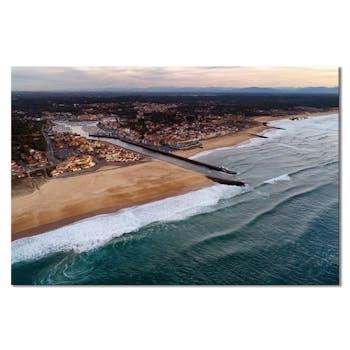 Tableau photo plexiglas Capbreton vue drone