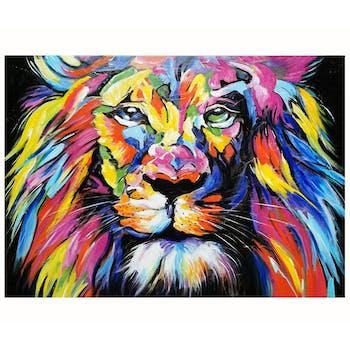 Tableau pop art lion