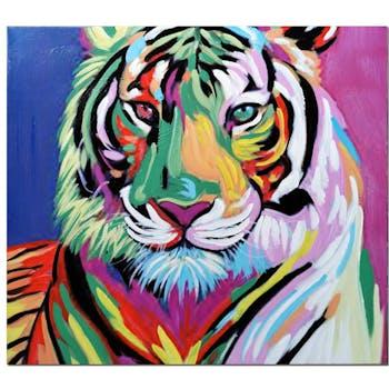 Tableau pop art tigre