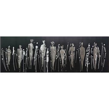 Tableau silhouettes en métal fond sombre