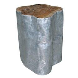 Tabouret 45cm forme unique - teck et aluminium - MARRAKECH