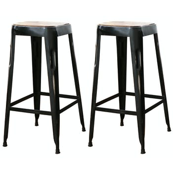 Tabouret de bar (lot de 2) LEEDS