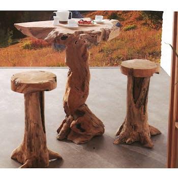 Tabouret de bar en bois massif de style exotique
