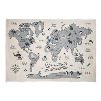 Tapis pour enfant carte du monde