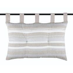 Tête de lit à rayures grises et beiges 45x70cm CHRISTIE