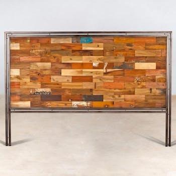 Tête de lit bois recyclé 140cm CARAVELLE