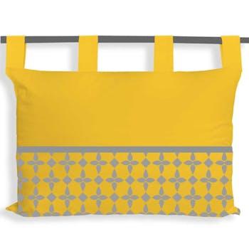 Tête de lit damier jaune 45x70cm
