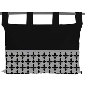 Tête de lit damier noir 45x70cm