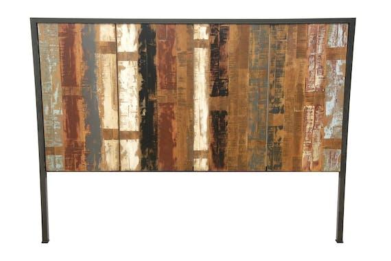 Tête de Lit en Hévéa recyclé coloré et métal 165x120cm LOFT COLORS