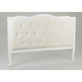 Tête de lit matelassée crème antique baroque romantique en Acajou MURANO L164x H112 AMADEUS
