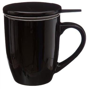 Tisanière en faïence coloris noir 32cl