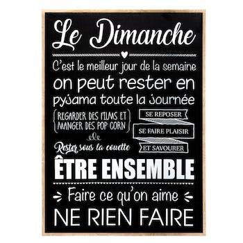 """Toile message """"Dimanche"""""""