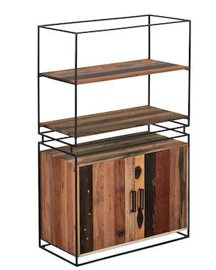 Vaisselier bois 2 portes bois recyclé SAMPAN